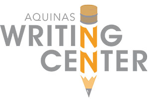 """Aquinas Writing Center"" logo"