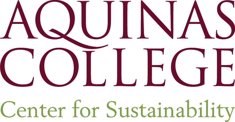 """Aquinas College Center for Sustainability"" logo"