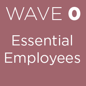 wave 0 essential employees