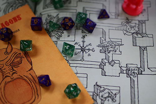 Dungeons and Dragons set up