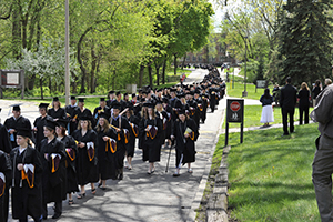 Aquinas graduates during commencement