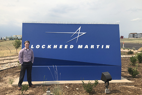 Tyson March by Lockheed Martin sign