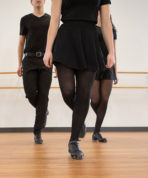 dancer in all black in studio