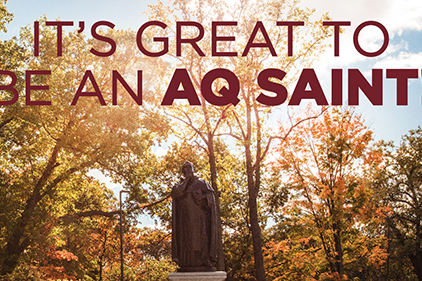 its great to be an aq saint