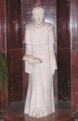 A statue of St. Thomas Aquinas