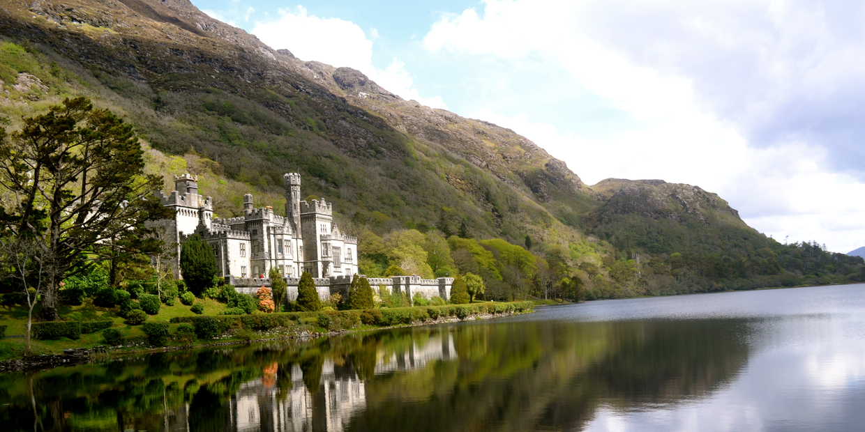 building and lake in Ireland