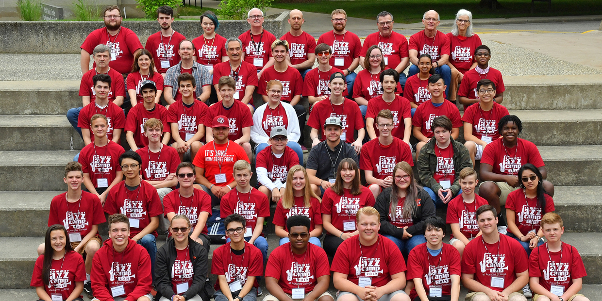 Group shot of Jazz Camp 2019 attendees