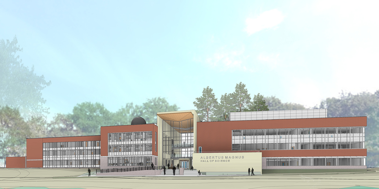 Rendering of the new science building wing