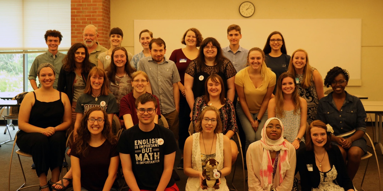 group photo of the writer center group