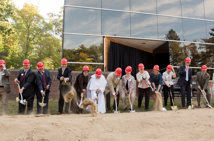 Groundbreaking of the science building