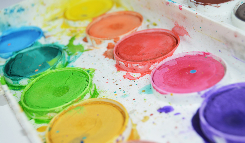 water paint tray