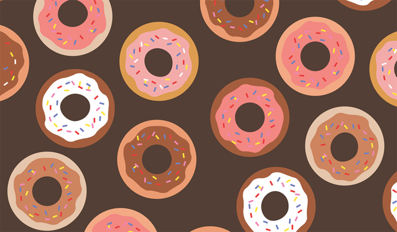 donut print drawing