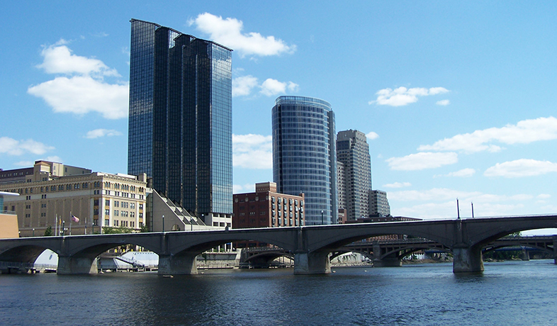 Downtown Grand Rapids and the Grand River