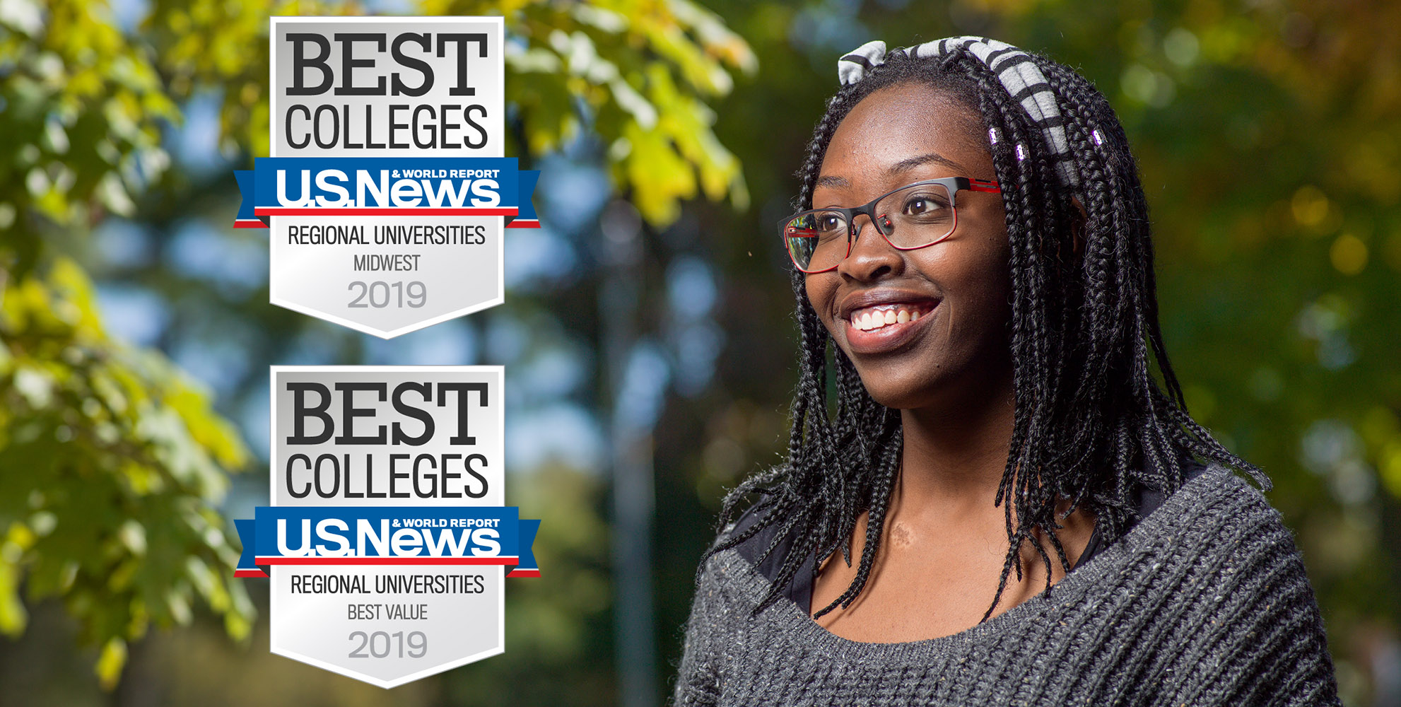 """Best Colleges U.S. Nes & World Report Regional Universities Midwest 2019 & Best Value 2019"""