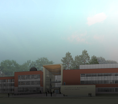 Rendering of future addition to science building