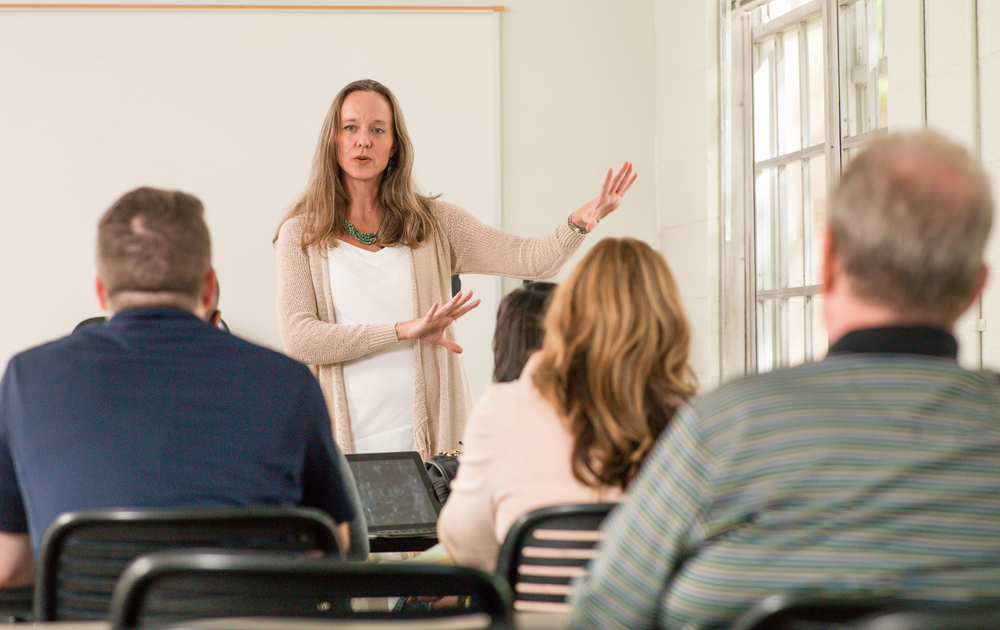 professor teaching continuing education students
