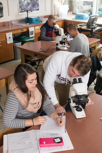 students in a bio lab