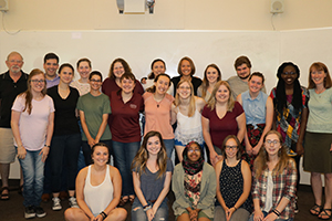 group photo of the writing center